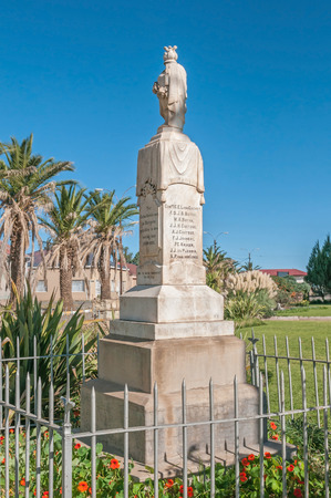 boer: REDDERSBURG, SOUTH AFRICA - APRIL 26, 2015: Memorial in Reddersburg for local citizens who died in the Anglo-Boer War between 1899 and 1902