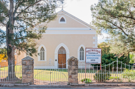 church building: REDDERSBURG, SOUTH AFRICA - APRIL 26, 2015: This original Reformed Church building in Reddersburg, built in 1859, was replaced by a new one in 1927 Editorial