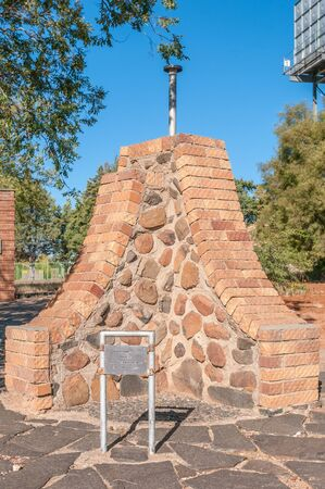 cairn: REDDERSBURG, SOUTH AFRICA - APRIL 26, 2015: A cairn created when South Africa first beacame a republic on May 31, 1961 Editorial