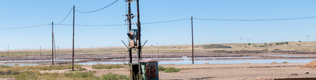 dams: Salt evaporation dams at Dealesville in the Free State Province of South Africa Editorial