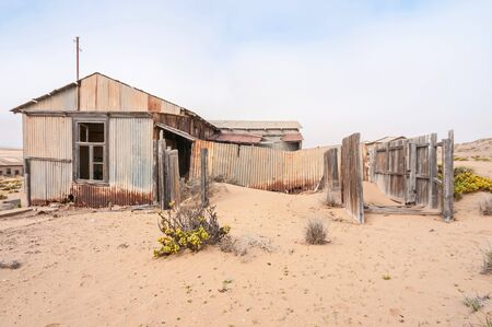 luderitz: Historic old building at the ghost town of Kolmanskop near Luderitz, Namibia.