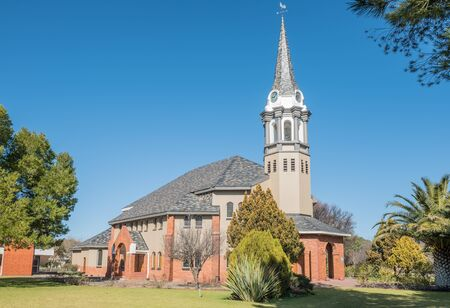 church building: BLOEMFONTEIN, SOUTH AFRICA - JULY 19, 2015: Building of the Dutch Reformed Church Bloemfontein West