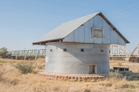 boer: Historic blockhouse used by the British troops to guard the railway bridge across the Rietrivier during the Anglo Boer War 1899-1902
