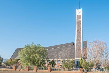northern cape: STRYDENBURG, SOUTH AFRICA - AUGUST 9, 2015: Dutch Reformed Church in Strydenburg, a small town in the Northern Cape Province of South Africa Editorial