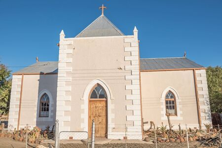 northern cape: STRYDENBURG, SOUTH AFRICA - AUGUST 9, 2015: Reformed Church in Strydenburg, a small town in the Northern Cape Province of South Africa