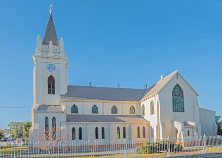 northern cape: Sunrise at the Dutch Reformed Church in Britstown, a small town in the Northern Cape Karoo region of South Africa