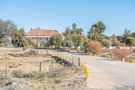 northern african: VOSBURG, SOUTH AFRICA - AUGUST 10, 2015: A street scene in Vosburg, a small village in the Northern Cape Karoo region of South Africa