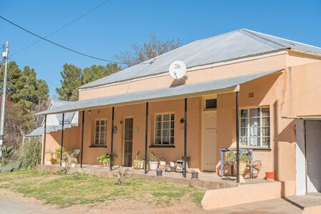 northern cape: VOSBURG, SOUTH AFRICA - AUGUST 10, 2015: A typical house in Vosburg, a small village in the Northern Cape Karoo region of South Africa