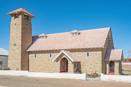 northern cape: The St Albans Anglican Church in Carnavon in the Northern Cape Karoo region was built from sandstone