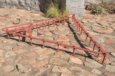 harrow: An historic harrow at the museum in Williston in the Northern Cape Karoo region of South Afica