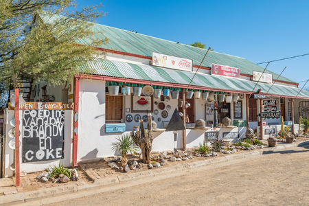 food and drinks: WILLISTON, SOUTH AFRICA - AUGUST 10, 2015: A popular tourist attraction in Williston, the Williston Mall. It caters for food, drinks, accommodation and more to visitors