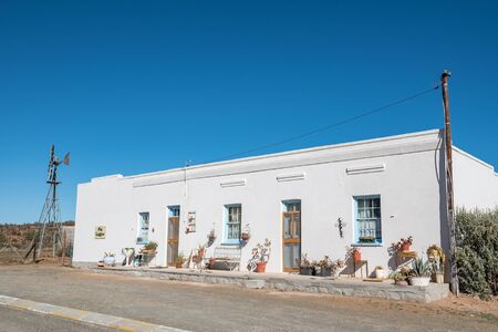 northern cape: VOSBURG, SOUTH AFRICA - AUGUST 10, 2015: A lodge in Vosburg, a small village in the Northern Cape Karoo region of South Africa