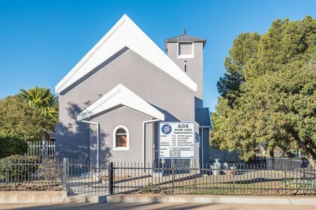 apostolic: CALVINIA, SOUTH AFRICA - AUGUST 10, 2015: The church building of the Apostolic Faith Mission in Calvinia was built circa 1919 Editorial