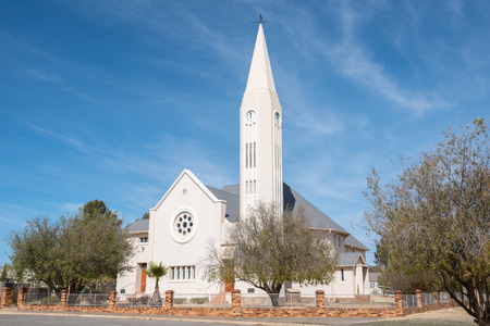 northern cape: The Dutch Reformed Church in Loeriesfontein, a small town in the Northern Cape Karoo region of South Africa