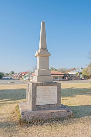 congregation: HOPETOWN, SOUTH AFRICA - AUGUST 9, 2015: Monument commemorating the ministers and members of congregation of the Dutch Reformed Church who died during the first 100 years of existence Editorial
