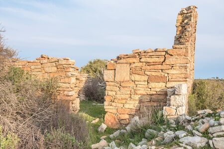 approximately: The ruins at Groenrivier green river farm at Nieuwoudtville are from early settlers and date from approximately 1750
