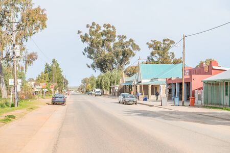 northern african: NIEUWOUDTVILLE, SOUTH AFRICA - AUGUST 11, 2015: The main street of Niewoudtville. The town claims the title of Bulb Capital Of The World due to the many species indigenous flowering bulbs in the area