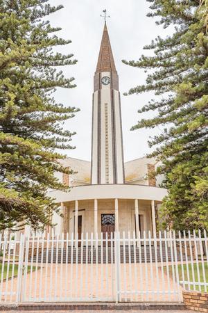 iglesia: La Madre Iglesia Reformada Holandesa en Vredendal en la Provincia Occidental del Cabo de Sudáfrica