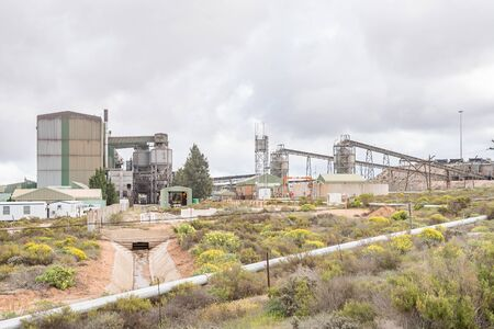 separation: LUTZVILLE, SOUTH AFRICA - AUGUST 13, 2015: A mineral separation plant next to the road between Lutzville and Nuwerus