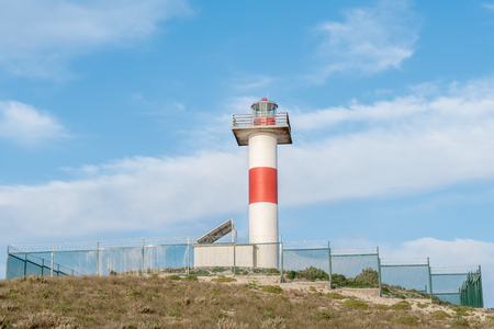 northern african: The new lighthouse at Hondklipbaai dog stone bay on the South African Atlantic coast