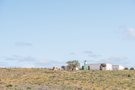 northern cape: A farm with outside oven next to the road from Spoegrivier spit river to Klipfontein in the Northern Cape Namaqualand region of South Africa