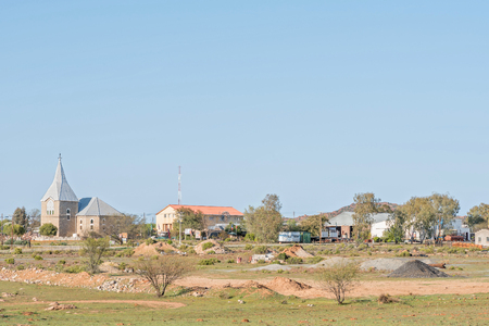 northern cape: KAMIESKROON, SOUTH AFRICA - AUGUST 16, 2015: Early morning view of Kamieskroon, a small town in the Northern Cape Namaqualand region