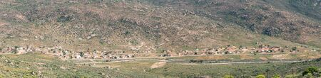 northern cape: SPOEGRIVIER, SOUTH AFRICA - AUGUST 15, 2015: Panorama of Spoegrivier spit river in the Northern Cape Namaqualand region of South Africa