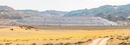 springbok: A mine dump bordering the Goegap Nature Reserve near Springbok in the Northern Cape Namaqualand