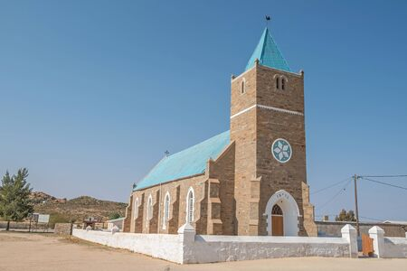 concordia: CONCORDIA, SOUTH AFRICA - AUGUST 17, 2015: The United Reformed Church in Concordia, a small mining town in the Northern Cape Namaqualand