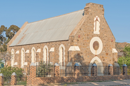 all weather: SPRINGBOK, SOUTH AFRICA - AUGUST 17, 2015: The Old All Saints Anglican Church in Springbok South Africa, is a national monument