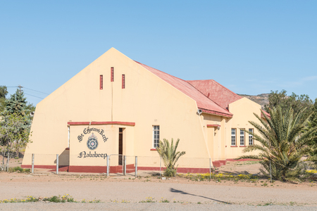 northern african: NABABEEP, SOUTH AFRICA - AUGUST 17, 2015: The St Cyprians Church in Nababeep, a small mining town in the Northern Cape Namaqualand