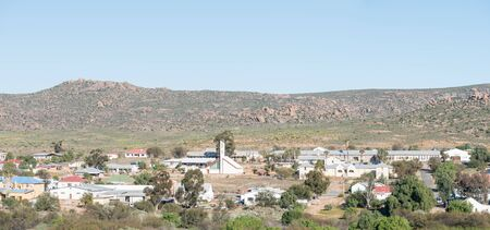 northern african: GARIES, SOUTH AFRICA - AUGUST 20, 2015: Panorama of Garies, a small town in the Northern Cape Namaqualand Editorial