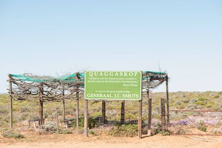smuts: VANRHYNSDORP, SOUTH AFRICA - AUGUST 20, 2015: The Quaggaskop nature reserve is dedicated to Jan Smuts who served as prime minister of the Union of South Africa and who was a dedicated botanist Editorial