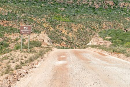 south africa soil: Start of the Gifberg poison mountain Pass south of Vanrhynsdorp in the Western Cape Province of South Africa