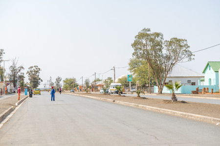 northern african: BRANDVLEI, SOUTH AFRICA - AUGUST 24, 2015: Street scene in Brandvlei, a small town in the Northern Cape Province of South Africa