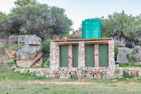 camping site: GIFBERG, SOUTH AFRICA - AUGUST 21, 2015: The ablution facilities at the Gifberg Resort camping site near Vanrhynsdorp in the Western Cape Province of South Africa