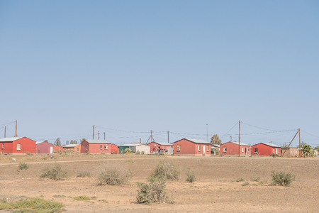 BRANDVLEI, SOUTH AFRICA - AUGUST 24, 2015: A township in Brandvlei, a small town in the Northern Cape Province of South Africa Stok Fotoğraf - 46768937