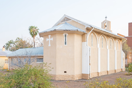 northern cape: The Saint Andrews Church in Prieska, a small town next to the Gariep River in the Northern Cape Province of South Africa Stock Photo
