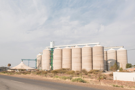 northern cape: Grain silos at Prieska in the Northern Cape Province of South Africa