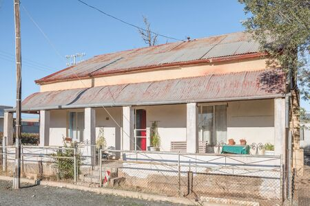 northern african: BRITSTOWN, SOUTH AFRICA - AUGUST 9, 2015: An historic house in Britstown in the Northern Cape Province