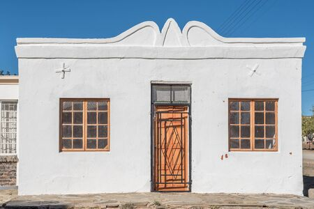 northern african: VOSBURG, SOUTH AFRICA - AUGUST 10, 2015: An historic house in Vosburg, a small village in the Northern Cape Karoo region of South Africa