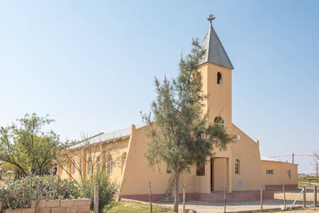 concordia: CONCORDIA, SOUTH AFRICA - AUGUST 17, 2015: The Calvyn Protestant Church in Concordia, a small mining town in the Northern Cape Namaqualand