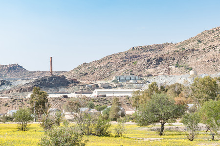 northern african: NABABEEP, SOUTH AFRICA - AUGUST 17, 2015: The copper mine in Nababeep, a small mining town in the Northern Cape Namaqualand. Mining began in the 1850s