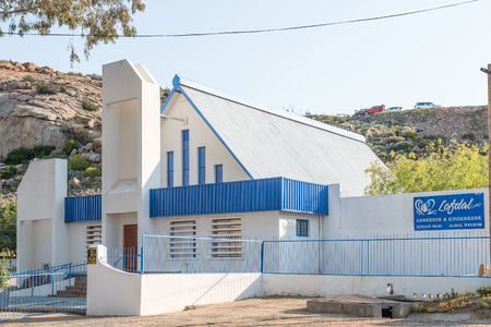 springbok: SPRINGBOK, SOUTH AFRICA - AUGUST 17, 2015: The Lofdal Church in Springbok, the largest town in the Northern Cape Namaqualand region