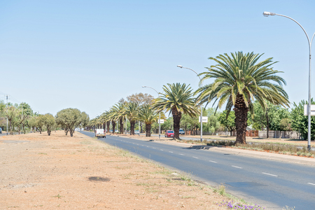 sunshine state: BLOEMFONTEIN, SOUTH AFRICA, NOVEMBER 12, 2015: Walter Sisulu Road, one of the main entrance to Bloemfontein, the capital of the Free State Province