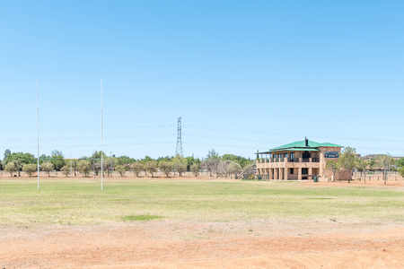 secondary school: BLOEMFONTEIN, SOUTH AFRICA, NOVEMBER 12, 2015: Sport center of the Jim Fouche Secondary School in Gardenia Park, a suburb of Bloemfontein, the capital of the Free State Province