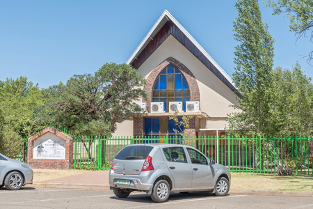 sunshine state: BLOEMFONTEIN, SOUTH AFRICA, NOVEMBER 12, 2015: The Seventh Day Adventist Church in Universitas, a suburb of Bloemfontein, the capital of the Free State Province