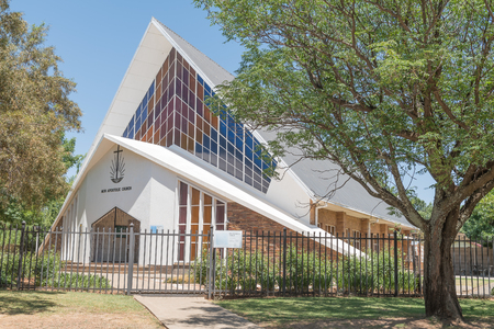 sunshine state: BLOEMFONTEIN, SOUTH AFRICA, NOVEMBER 12, 2015: The New Apostolic Church in Universitas, a suburb of Bloemfontein, the capital of the Free State Province Editorial