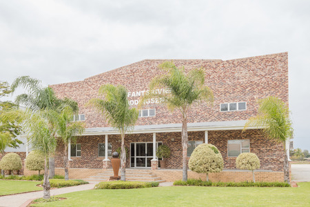apostolic: VREDENDAL, SOUTH AFRICA - AUGUST 12, 2015: New building of the Apostolic Faith Mission Church in Vredendal in the Western Cape Province of South Africa