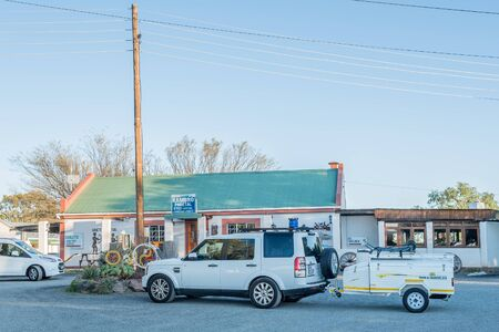 northern african: BRITSTOWN, SOUTH AFRICA - AUGUST 10, 2015:  Early morning at the Kambro Road Stall near Britstown in the Northern Cape Province